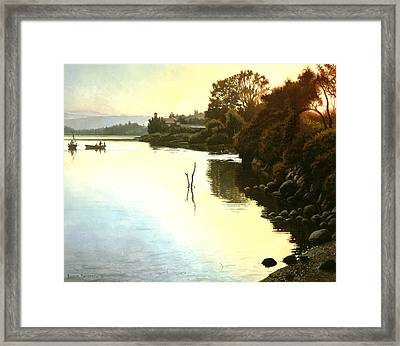 Sunset  Sea Of Galilee  Israel Framed Print by Graham Braddock