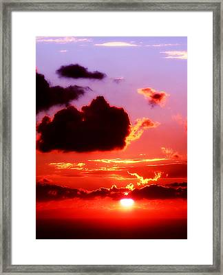 Sunset Sea Framed Print