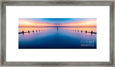 Sunset Seascape IIi Framed Print by Adrian Evans
