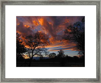 Sunset September 24 2013 Framed Print by Joyce Dickens