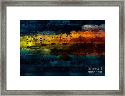 Framed Print featuring the digital art Sunset Serenade by Lon Chaffin
