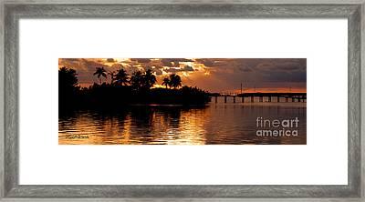 Sunset Serenade Framed Print by Michelle Wiarda