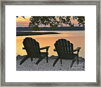Framed Print featuring the photograph Sunset Serenity by Carol  Bradley