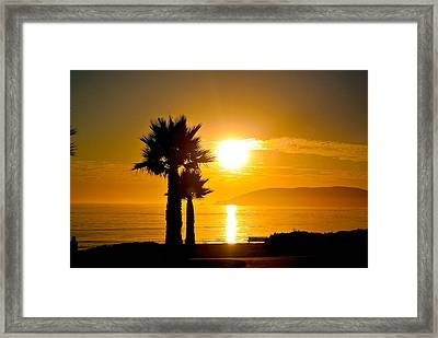 Framed Print featuring the photograph Sunset Serenity  by Tamara Bettencourt