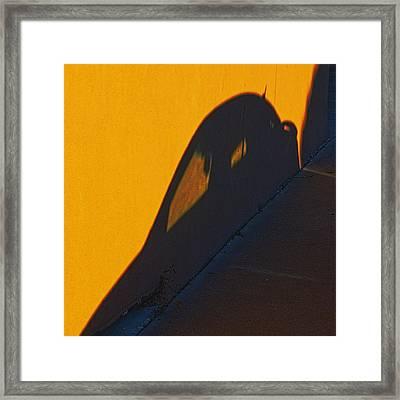 Framed Print featuring the photograph Sunset Shadow Car by John Hansen