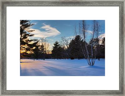 Sunset Shadows Framed Print by Bill Wakeley