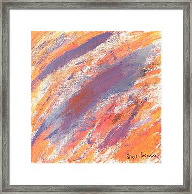 Sunset Framed Print by Artists With Autism Inc