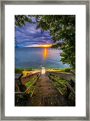 Sunset Shores Sunset Framed Print