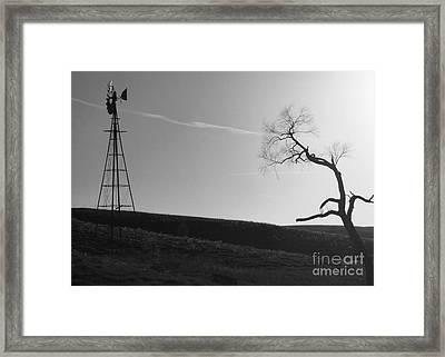 Sunset Silence Bw Framed Print