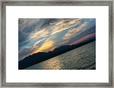 Sunset Silhouette Boulder Colorado Framed Print