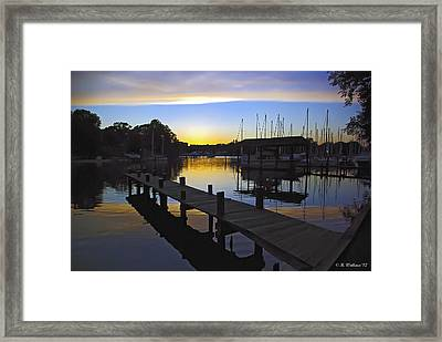 Framed Print featuring the photograph Sunset Silhouette by Brian Wallace