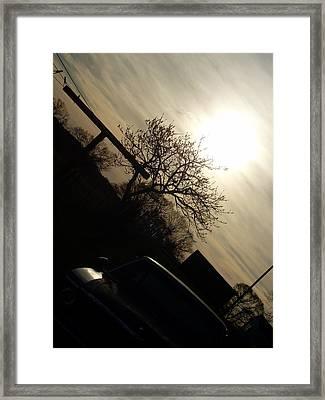 Sunset Silhouette Framed Print by Kiara Reynolds