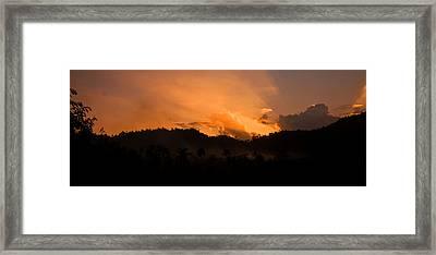 Sunset Silhouette Framed Print by Kim Lagerhem