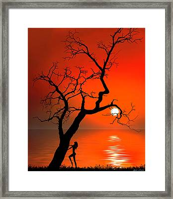 Sunset Silhouettes Framed Print by Igor Zenin