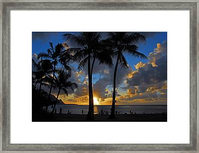 Sunset Silhouettes Framed Print by Lynn Bauer