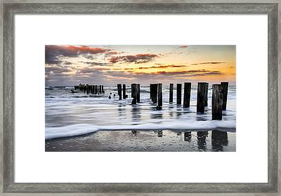 Sunset Silk Framed Print by Mike Lang