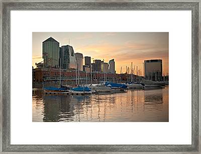 Framed Print featuring the photograph Buenos Aires Sunset by Silvia Bruno