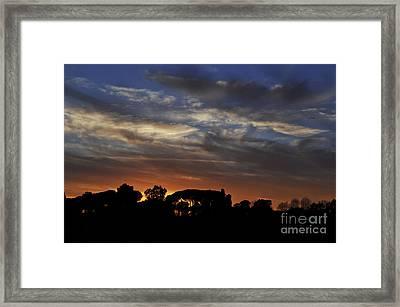 Sunset Framed Print by Simona Ghidini
