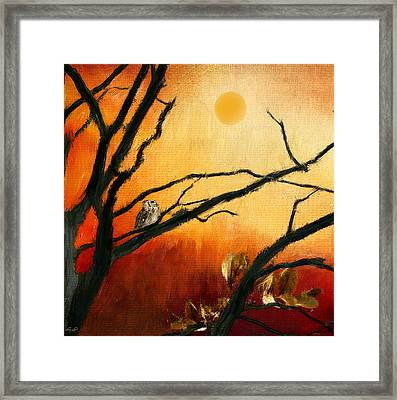 Sunset Sitting Framed Print by Lourry Legarde