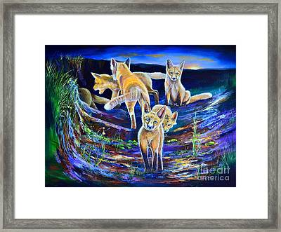 Sunset Six Pack Framed Print by AnnaJo Vahle