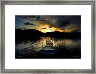 Sunset Skaha Lake Framed Print