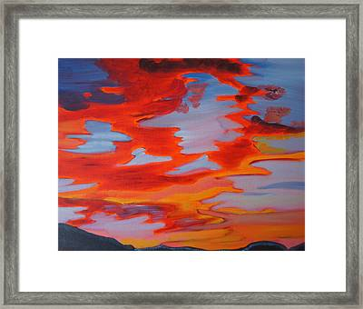 Framed Print featuring the painting Sunset Skies by Meryl Goudey
