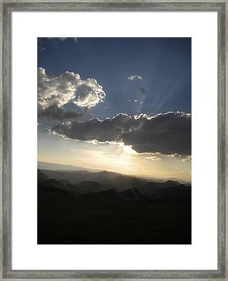 Sunset Skies Over The Andes Framed Print