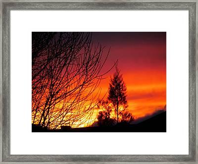 Sunset Sky . Framed Print by Joyce Woodhouse