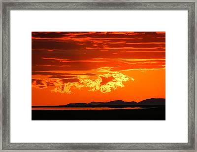 Sunset Sky Fire Framed Print by Kirk Strickland