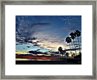 Sunset Sky  Framed Print by Raymond Mendez