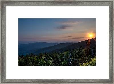 Sunset Smokey Mountains  Framed Print