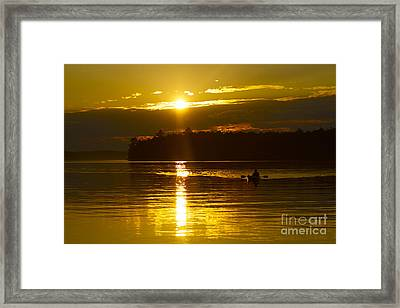 Sunset Solitude II Framed Print by Alice Mainville