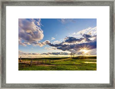 Sunset Sonata Framed Print