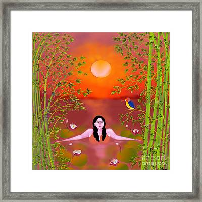 Sunset Songs Framed Print by Latha Gokuldas Panicker