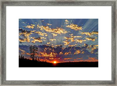 Sunset Spectacle Framed Print
