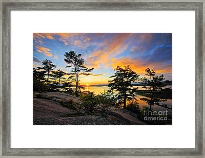 Sunset Spectrum Framed Print