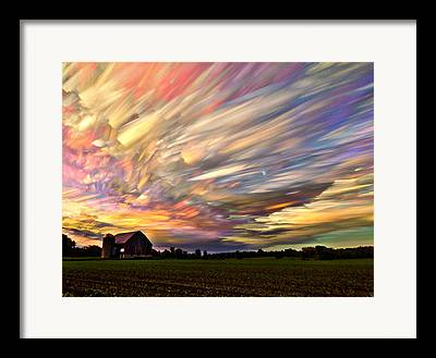 Amazing Sunset Digital Art Framed Prints