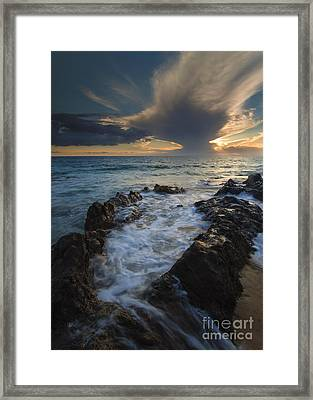 Sunset Spillway Framed Print by Mike  Dawson