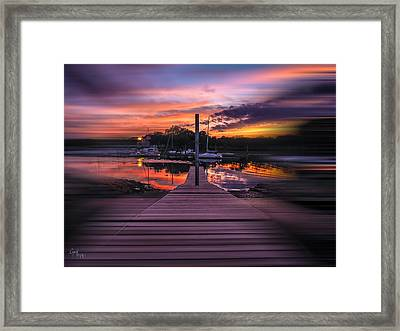 Framed Print featuring the photograph Sunset Spin by Glenn Feron