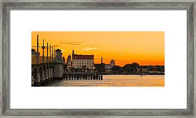 Sunset St. Augustine Framed Print