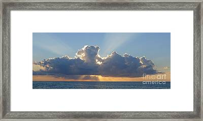 Sunset St. Lucia IIi Framed Print by Nora Boghossian