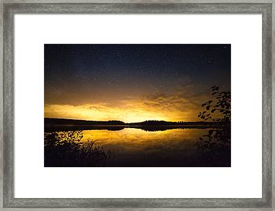 Sunset Star Landscape Framed Print by Teemu Tretjakov