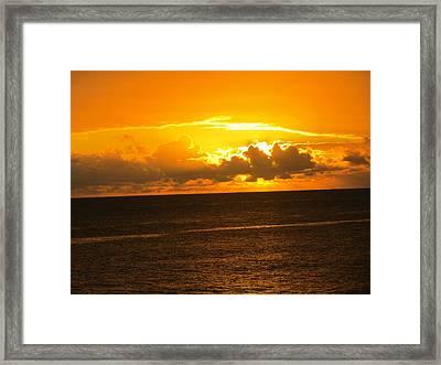 Sunset  Framed Print by Stephanie Francis