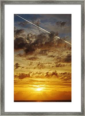 Sunset Streak Framed Print