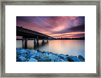 Sunset Streaks Framed Print