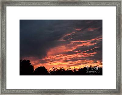 Framed Print featuring the photograph Sunset Streaks by Luther Fine Art