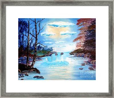 Sunset Stream Framed Print by Dave Atkins