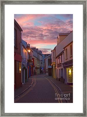 Sunset Street Framed Print