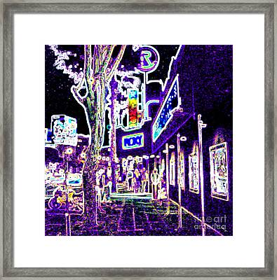 Sunset Strip - Black Light Psychedelic Framed Print