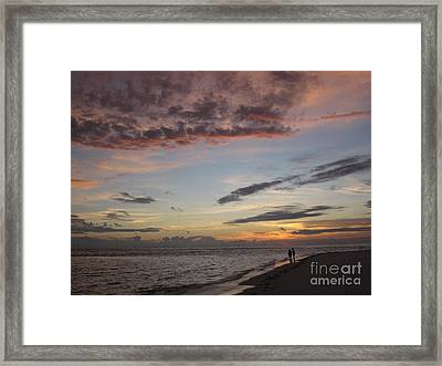 Sunset Stroll Framed Print by Elizabeth Carr